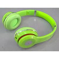 Наушники беспроводные S460 Зеленый (Bluetooth+SD card+FM+with cable)