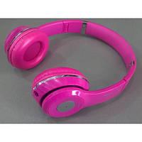 Наушники беспроводные S460 Розовый (Bluetooth+SD card+FM+with cable)