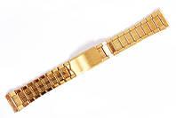 Браслет классический Nobrand для наручных часов золотой, 18 мм