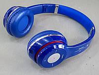Наушники беспроводные S460 Синий (Bluetooth+SD card+FM+with cable)