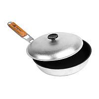 Сковорода походная с антипригарным покрытием Силумин 24 см