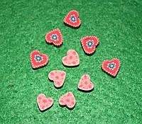 Бусина сердечки-2 458 упаковка 30 шт