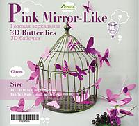 """Наклейка на стену, пластиковые наклейки, украшения стены наклейки """"бабочки розовые зеркальные 12шт набор"""""""