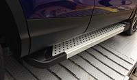 Боковые пороги для Audi Q5 Erkul Almond