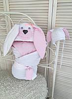 """Набор на выписку """"Мамина зайка"""" розовый, фото 1"""