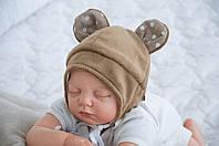 """Шапочка для новорожденного """"Мишка"""" коричневая, фото 1"""