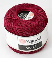 Пряжа Violet - цвет бордовый