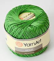 Пряжа Violet - цвет зеленый