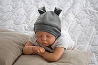 """Шапочка для новорожденного """"Бегемотик"""" , фото 1"""
