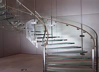 Стеклянные лестницы со стеклянными перилами