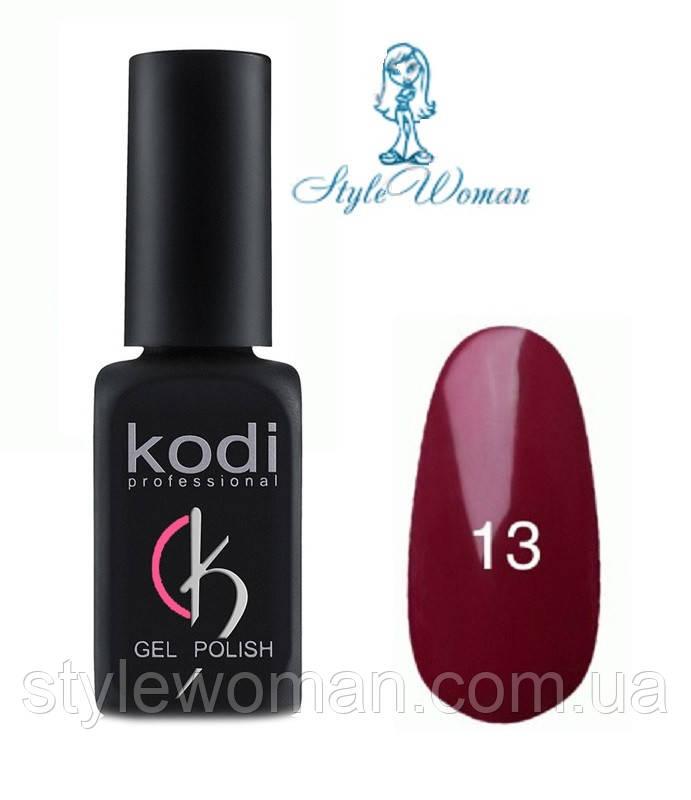 Kodi professional гель лак Коди 13 темная фуксия эмаль 8мл
