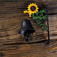 Колокол на дверь или стену из чугуна 8х18х13см