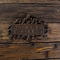 Панно приветсвенное WELCOME металлическое 25х16х1 см