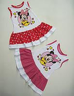Летнее платье для девочки с Мини Маусом