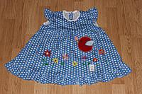 Платье детское Птичка. Размер 80 - 92 см. Разные цвета