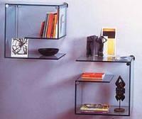 Стеклянные полочки для книг