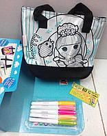 """Набор для творчества: Раскрась свою сумочку """"Lalaloopsy"""", фото 1"""