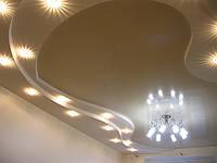 Люстра в натяжном потолке, фото 1