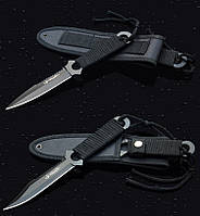 Походный туристический нож для охоты или дайвинга. Компактный нож. Доступная цена. Купить нож. Код: КДН11