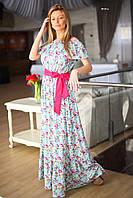 Летнее платье в пол 8010 ш