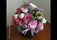 Оформление свадьбы цветами.  Розовая свадьба.  Киев