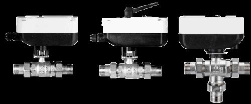 Кран шаровый с электроприводом IVR (Italy) с ручным дублером
