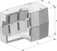 Телефонный колодец (угловой)  ККСУ-3-10