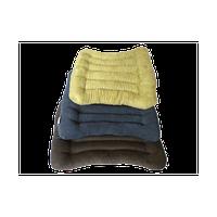Сиденье из гречневой шелухи, ткань Вельвет Лотос (50х50 см)