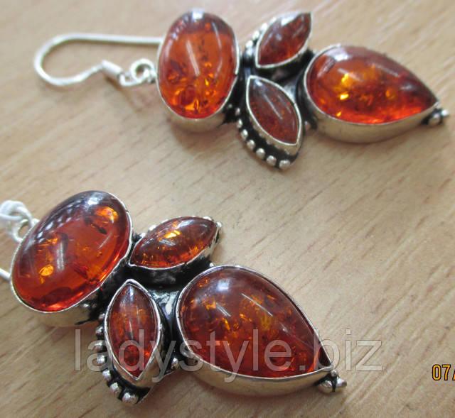 серебряные серьги купить украшение янтарь серьги из янтаря