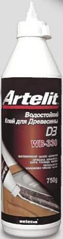 Клей для дерева водост. WB-330 Artelit б/білий 0,5 кг, фото 2