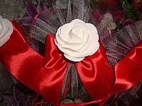 Украшение свадебных машин Роза с бантиком, фото 1