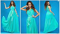 Женское шифоновое платье в пол Н003
