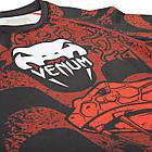 """Рашгард с коротким рукавом Venum """"Crimson Viper"""" Черная с красным, фото 2"""