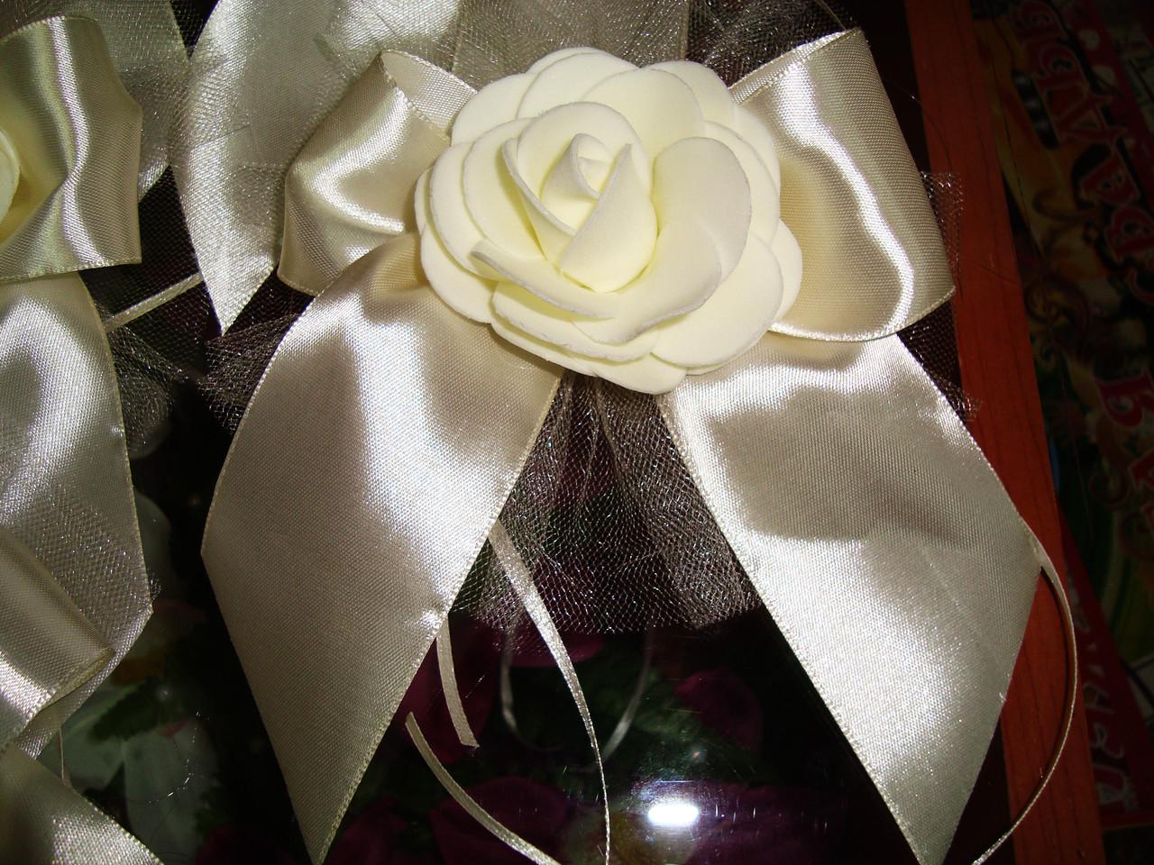 Украшение свадебной машины Роза с бантиком