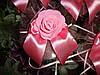 Украшение свадебных машин Розы с бантиком