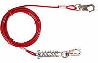 Тросс привязочный с амортизаторами и карабинами для собак Trixie (Трикси), 5 м