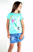 Летняя футболка с надписями Love