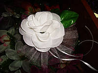 Украшение свадебных машин Роза на ручку, фото 1