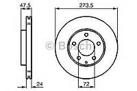 """Гальмівний диск MAZDA 323/626/6 1,8-2,0 """"98>>"""