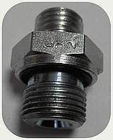 Соединение-адаптер корпус-фитинг (резьба 14х1,5 - 12х1,5 уплотнение в корпус)