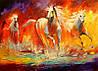 «Лошади» картина маслом