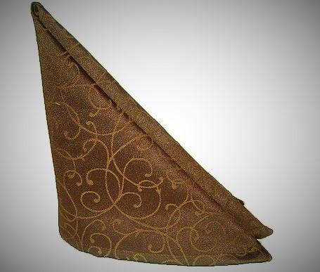Салфетка тканевая сервировочная шоколадная
