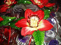 Украшение свадебных машин Орхидея на ручку, фото 1