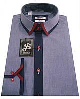 Рубашка мужская приталенная  S 20  - 506/18-3933, фото 1