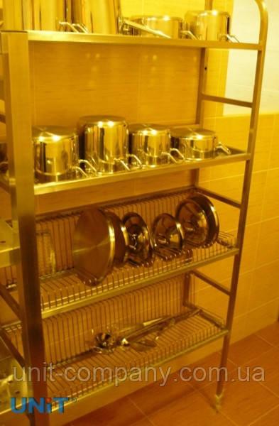 Стелажі для сушіння посуду
