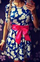 Платье беби-долл с розовым бантом (арт. 151066168)