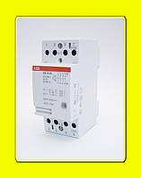 Модульный контактор ESB 63-40-230AC/DC ABB 63А AC/DC 220 В 4НО 4-х полюсный
