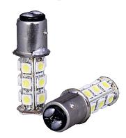 Светодиодная лампа белого 1157 BAY15D 18 СМД 5050 LED супер-яркий из светодиодов желтый