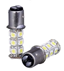 Светодиодная лампа белого 1157 BAY15D 18 СМД 5050 LED супер-яркий из светодиодов белый 2,2Вт