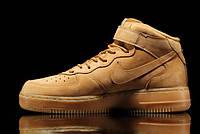 Мужские кроссовки Nike Air Force mid рыжие, фото 1